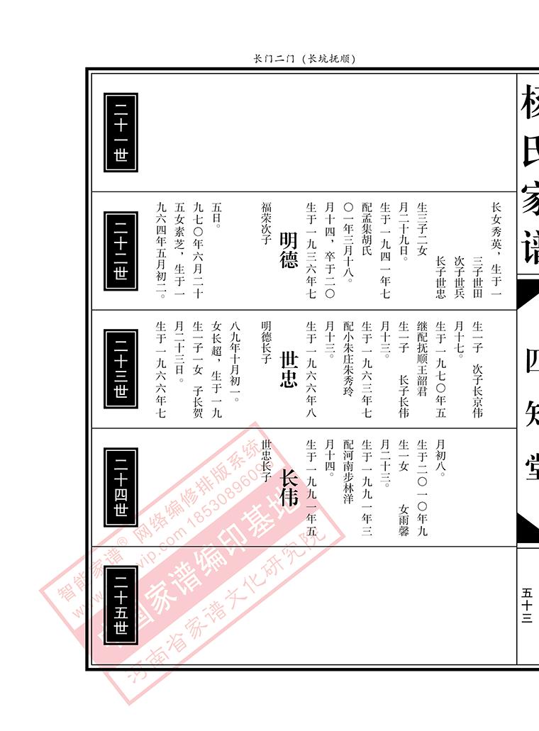 b1:现代欧式(文竖排)_河南省家谱文化研究院图片